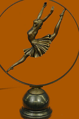 100% Solid Bronze Made by Lost Wax Method Graceful Pose Ballerina Sculpture Sale