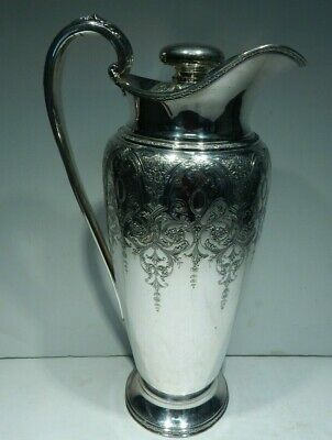 Wilcox International Co. Silver Plate Tall 64 Oz Cocktail Shaker Ice Lip Pitcher
