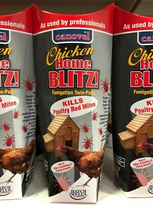 Canovel Home Blitz Chicken Fumigator Killing Poultry Red Mite Twin Pack