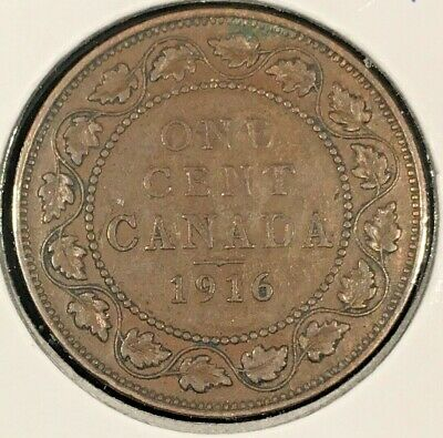1916 Canada Large One Cent From A Huge 'Collection'  *Keep Following Us*