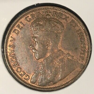1917 Canada Large One Cent Xf Red From A Huge 'Collection' *Keep Following Us*