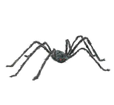 Hairy Poseable Spider 90 Inch Halloween Decor - Grey