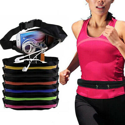 Women Men Runing Sports Bum Bag Pack Travel Waist Money Belt Pouch Wallet Unisex