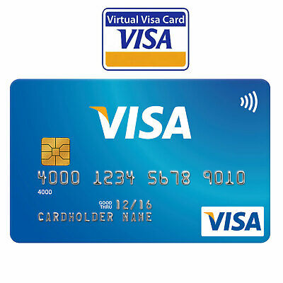 VCC Virtual Credit Card For Paypal Works Worldwide Fast Delivery