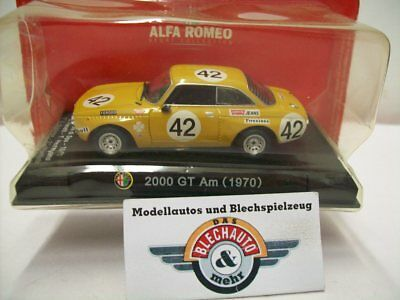 "Alfa Romeo 2000 Gt Am #42 "" Spa 1971 "", Giallo / Marrone ,Rcs 1:43, Conf. Orig."