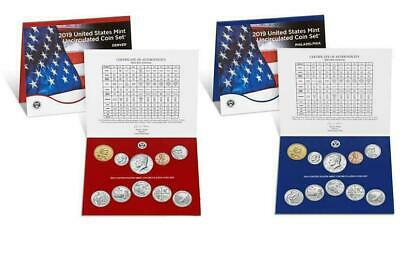 2019 P&D US MINT UNCIRCULATED 20 COIN SET - No W LINCOLN PENNY