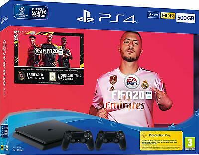 Playstation 4 500GB PS4 & Fifa 20 & Second Controller Bundle Brand New & Sealed