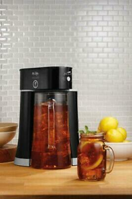 Mr. Coffee Tea Cafe 2-in-1 Black Iced Coffee/Tea Maker with Glass Pitcher