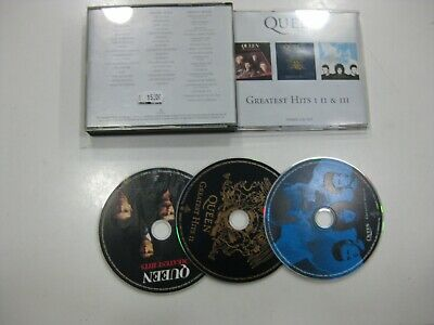 Queen 3CD Europe Greatest Hits I, II & III 2000