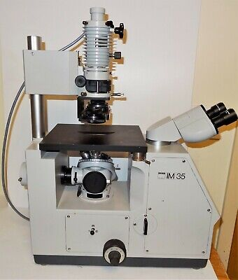 Zeiss IM35 Inverted  Microscope Equipped With Hoffman Modulation Contrast