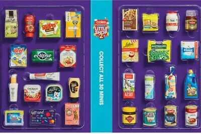 Coles Little Shop 2 Mini Collectables. Pick what you want.  Free Postage.