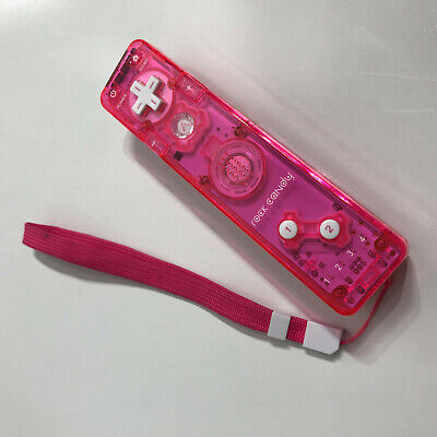 Nintendo Wii Console Pink Rock Candy Wiimote Remote Game Controller w/ Strap