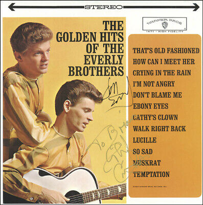 The Everly Brothers - Inscribed Record Album Signed With Co-Signers