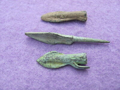 FANTASTIC/ RARE Lot of ( 3) Bronze arrows 3rd to 1st Cent. B.C.
