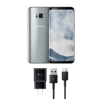 NEW Silver Samsung Galaxy S8 + PLUS SM-G955U 64GB   GSM UNLOCKED T-Mobile At&t