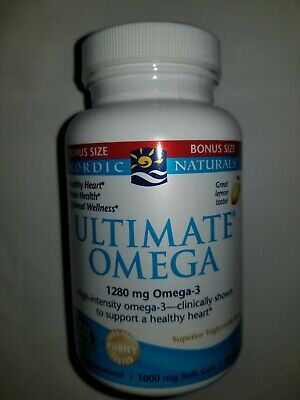 Nordic Naturals Ultimate Omega SoftGels - Concentrated Lemon Flavor, 90 Count.