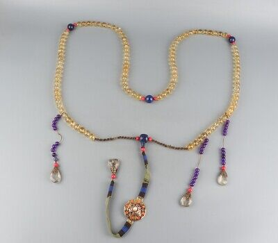 """Chinese Exquisite Handmade crystal necklace / """"Chao Zhu"""""""