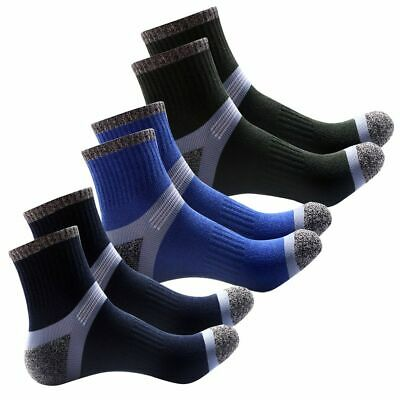 1-5pairs 3 Color Mens Sport Basketball Socks Combed Cotton Ankle Sock Mixed Type