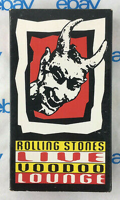 The Rolling Stones Live Voodoo Lounge USA Promotour NTSC VHS video