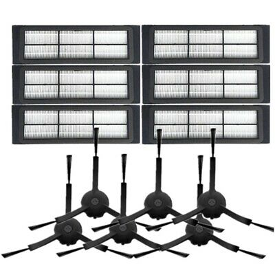 12PCS Side Brushes HEPA Filter Household Cleaning Tool Replacements for P7D6