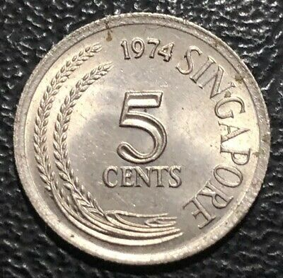 1974 Singapore 5 Cents Coin