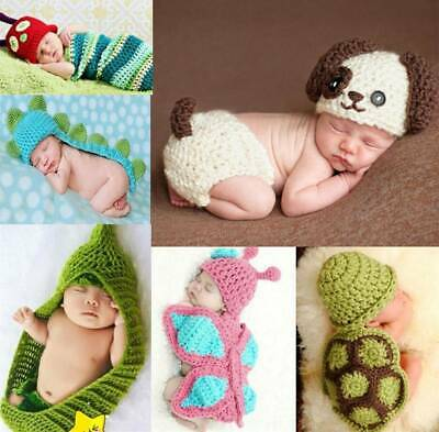 Baby Knit Clothes Newborn Boy Girl Photo Crochet Costume Photography Prop Outfit