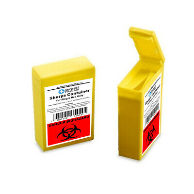 Sharps Disposal Container Medical Sharps Containers Clinical Biohaz Bin Yellow