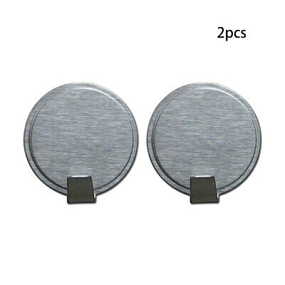 2PC Round Sticky Wall Hooks Wall Hanging Self Adhesive Hooks Stainless Steels