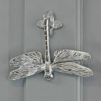 Bright Chrome Luna Dragonfly Door Knocker