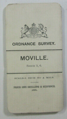 1899 Old OS Ordnance Survey Ireland One-Inch Second Edition Map 2, 6 Moville