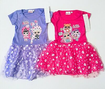 LOL Surprise Party Dress Pink Or Purple Girls Dress Up Age 3-4 Years