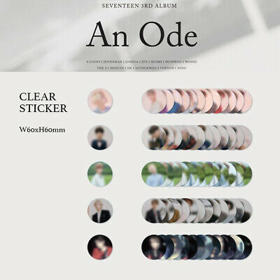 SEVENTEEN - 3rd ALBUM AN ODE CLEAR STICKER - FIRST PRESS ONLY