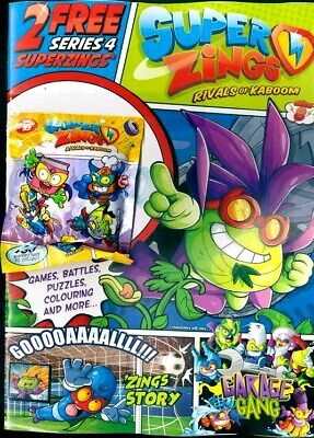 Superzings Rivals Of Kaboom Series 4 Magazine #8 - 2019 With 2 Zings Pack