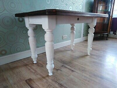 Delightful Antique Victorian Sold Mahogany Kitchen/Dining/Hall Table.