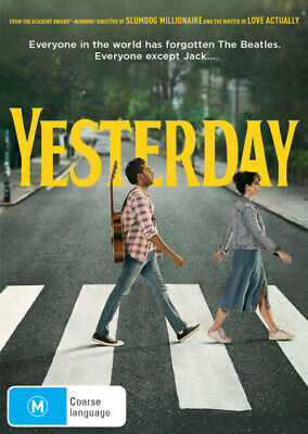 Yesterday  - DVD - NEW Region 4, 2