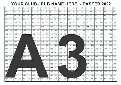 A2 Poster - Christmas Draw 500 Spaces