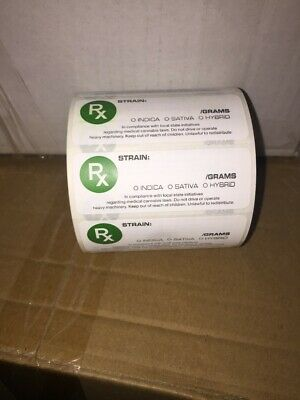 100x RX Medical Labels for Squeeze tops and Pop Tops UK listing Fast Dispatch