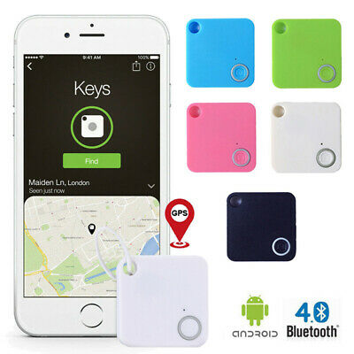 Bluetooth Tracker GPS Keyring Replaceable Finder Selfie Record ABS 41*41*8MM