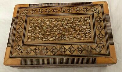 Made in Egypt Inlay Wood And Abalone Shell Intricate Design Box