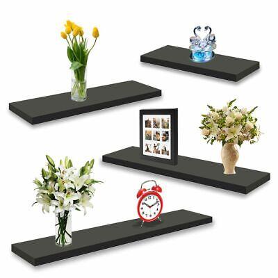 Floating Shelves Wall Mount Wooden Shelf Display Unit MDF Book Storage Pack Of 3