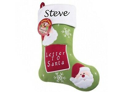 PERSONALISED LUXURY 3D CHRISTMAS STOCKINGS FREE EMBROIDERED NAME NEW FOR 2018