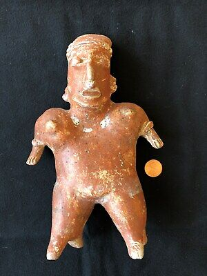 Pre-Columbian Jalisco Standing Female Figure, 100 BC - 250 AD,  LARGE!