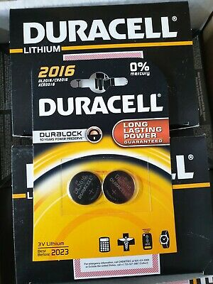Duracell CR2016 3V Lithium Coin Cell Battery 2016 DL2016 BR2016 FAST Dispatched
