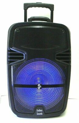 """Portable Rolling 12"""" Powered DJ Party Speaker w/ Stand Bluetooth Remote And Mic"""