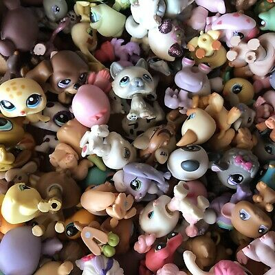 Lot of 5 Littlest Pet Shop RANDOM Dog Cat Animals ~ Blemished LPS