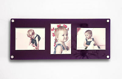 """Floating picture photo frame 7 x 5 / 5 x 7""""  all colors Cheshire Acrylic Baby"""