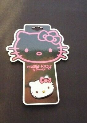 Sanrio Hello Kitty Pin Brooch 2009 Pink Bow. New On Card
