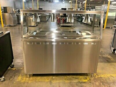 L&Jny Steam Table With Sneeze Guard & Lights  #14360