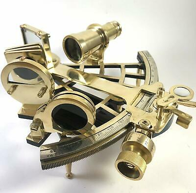"Nautical Brass Hand-Made 9"" Sextant 