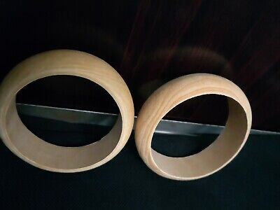 a pair of wood bangles in very good condition